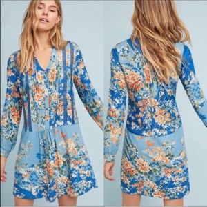 Anthropologie TINY Gaina Dress Floral Long Sleeve